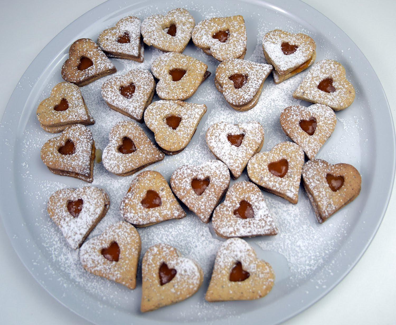 Linzeraugen - klassisches Weihnachtsgebäck in Herzform von Koch Dir Was