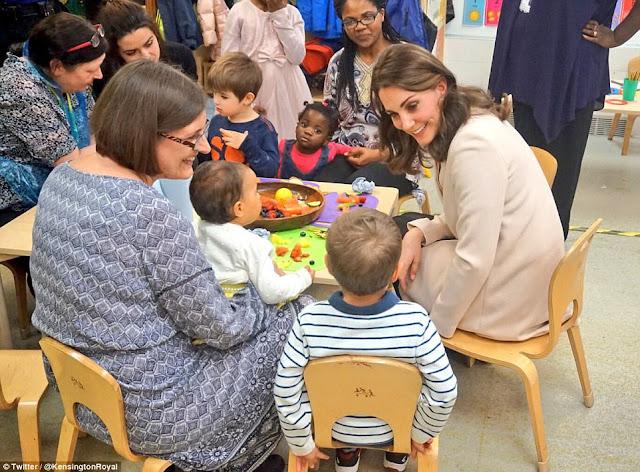 Księżna Kate w Hornsey Road Children's Centre