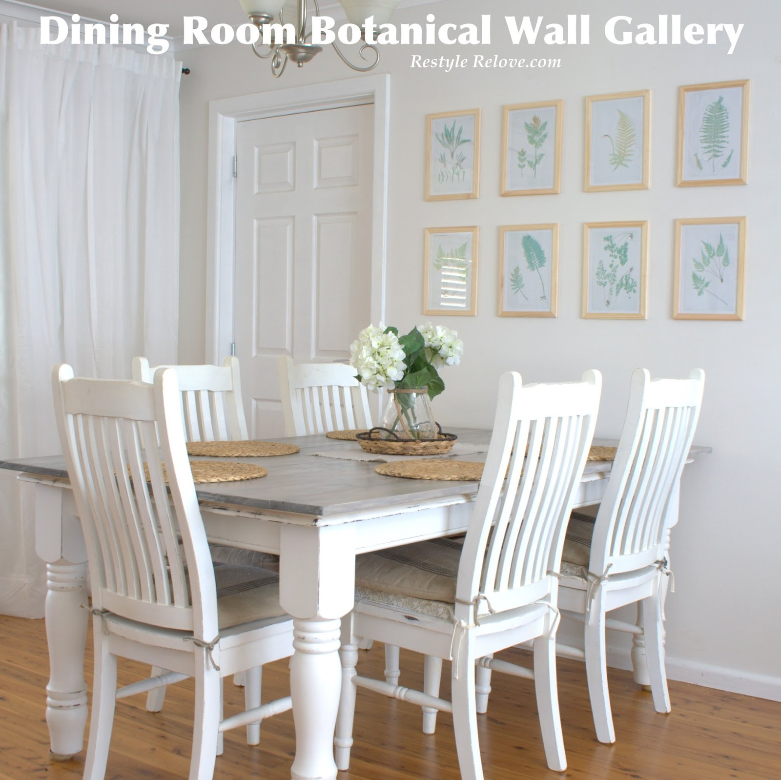 Dining room botanical wall gallery for Dining room gallery wall