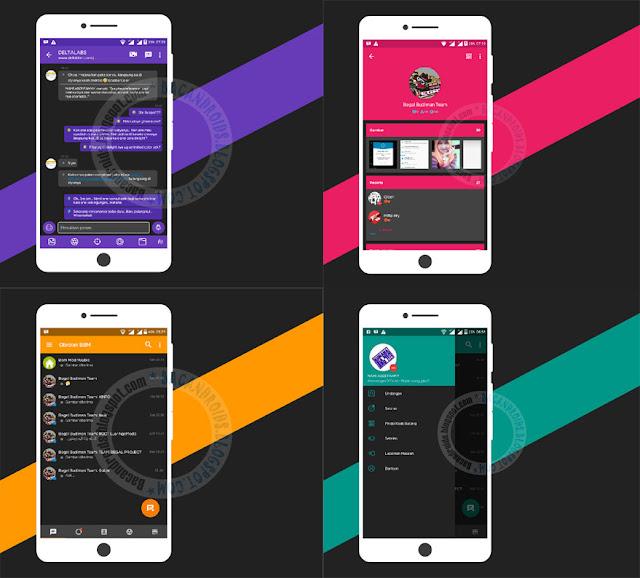 BBM Mod Naf Chat Series 4 Color v3.2.5.12 Apk Latest