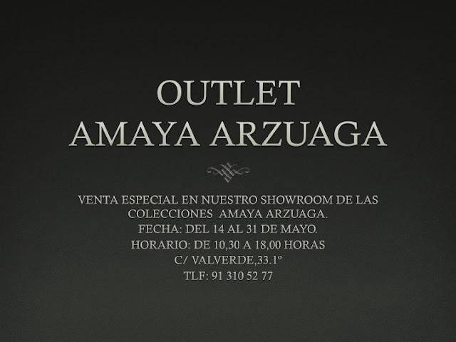 OUTLET AMAYA ARZUAGA- Hasta el 31 de Mayo.