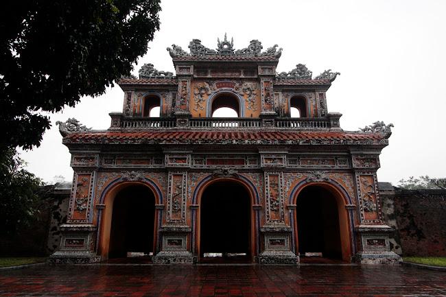 Puerta en la Ciudad Imperial de Hue