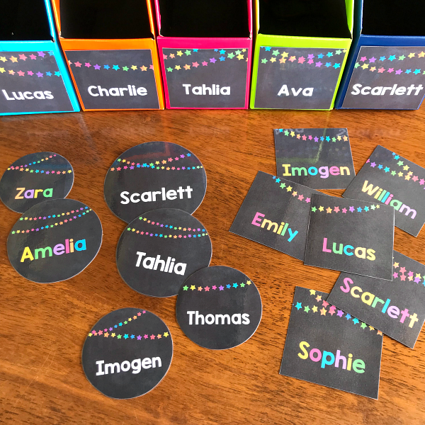 Editable Rainbow Bunting Star Labels for Class | you clever monkey