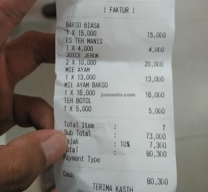 harga rumah bakso bandar lampung dan menu