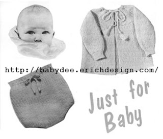 The Vintage Pattern Files: Free 1950's Knitting Pattern - Baby's Soakers & Round Yoke Coat