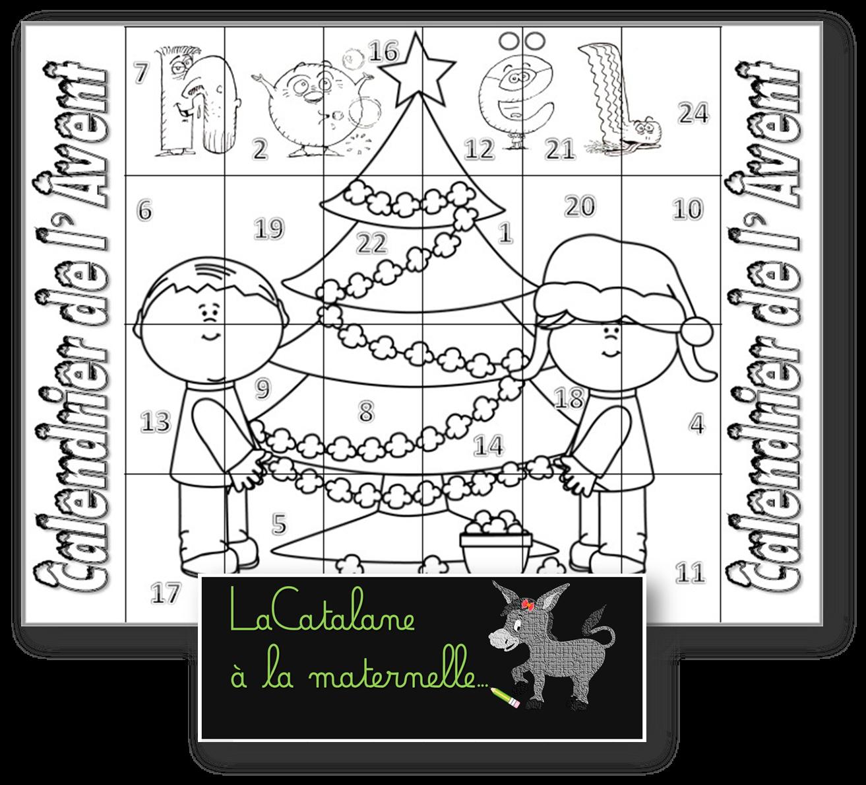 Lacatalane A La Maternelle Calendrier De L Avent 2 Versions