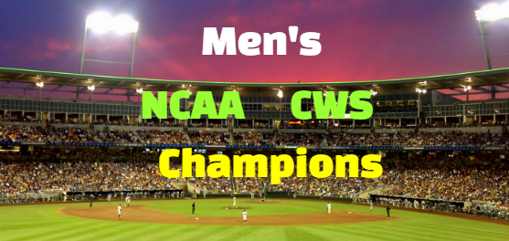 ncaa, men's, baseball, college world series, past champions-winners, history, list.
