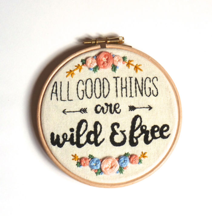 15+ Of The Best Traveler Gift Ideas Besides Actual Plane Tickets - All Good Things Are Wild And Free Embroidery Hoop