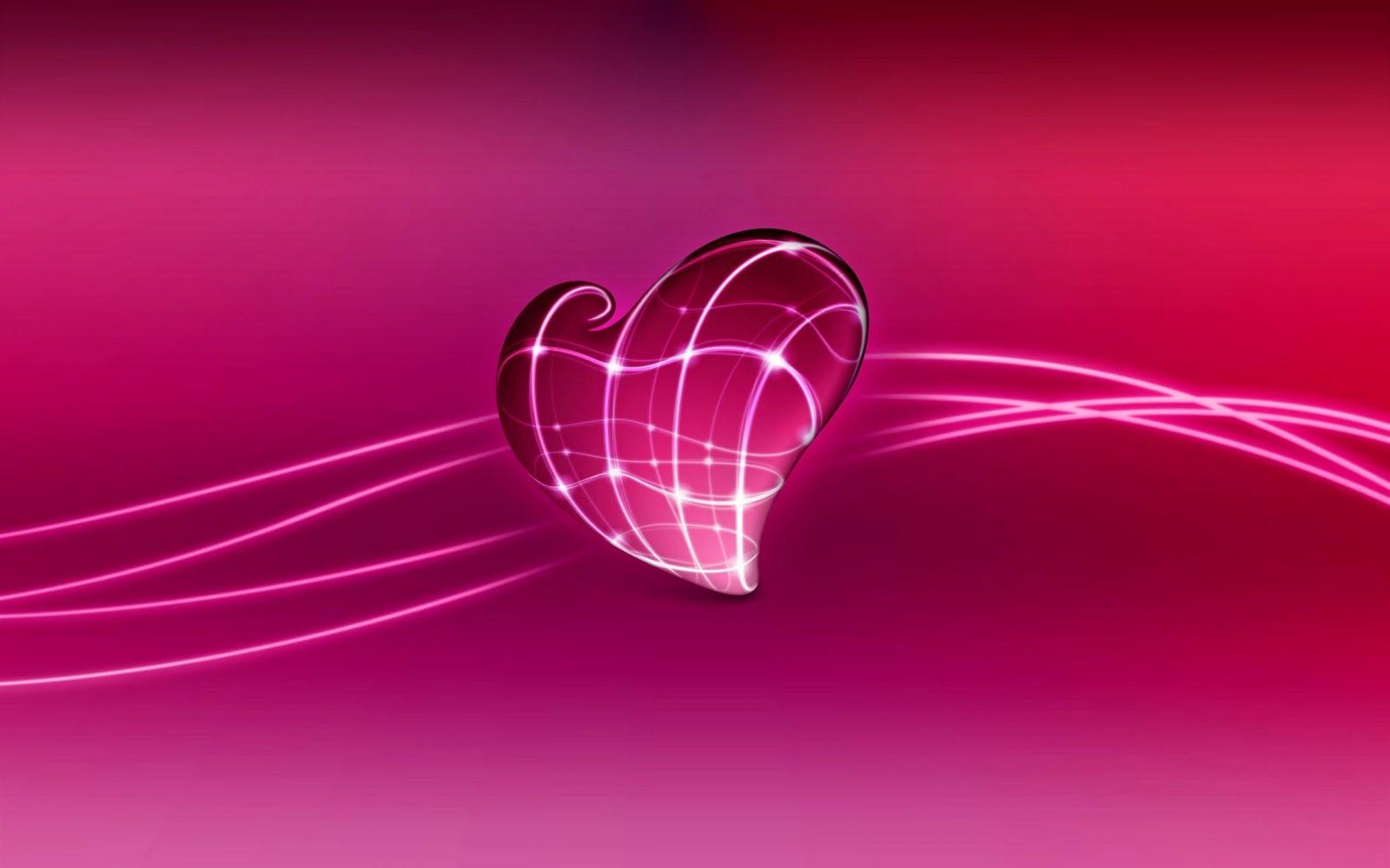 3d love heart wide