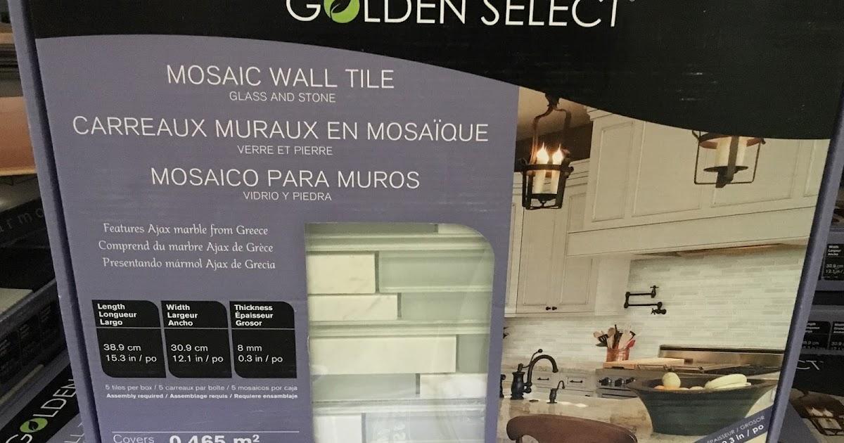 Golden Select Glass And Stone Mosaic Wall Tile Costco