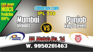 IPL 2019 24th Match KXIP vs MI Prediction