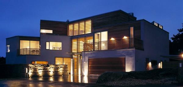Decoraciones y modernidades fachada de casa contemporanea for Decoraciones para fachadas de casas