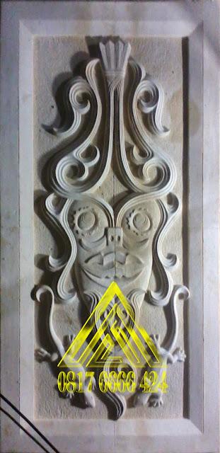 ornamen batu alam paras jogja, paras putih gunungkidul motif batik etnik