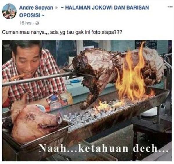 Hoax Jokowi Makan Daging Babi