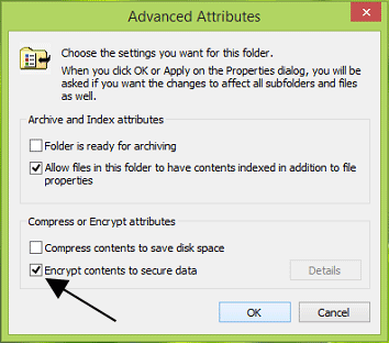 Advanced Attributes of Folder