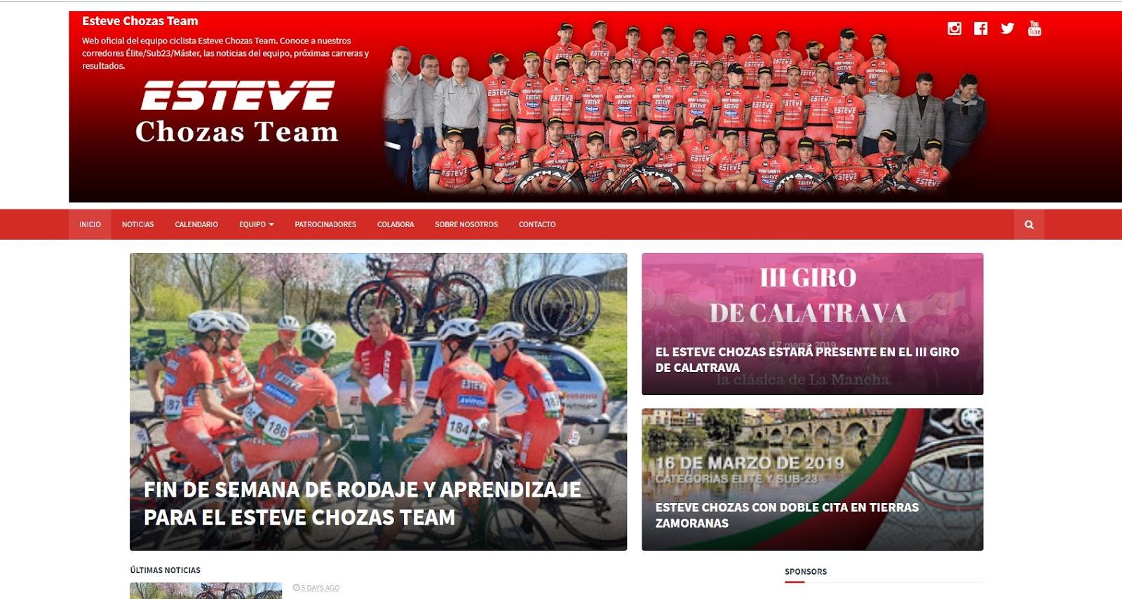 Web equipo ciclista Esteve Chozas