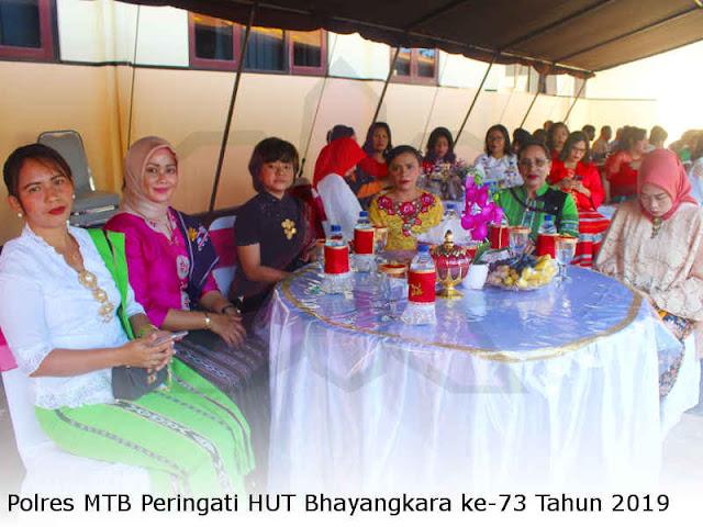Polres MTB Peringati HUT Bhayangkara ke-73 Tahun 2019