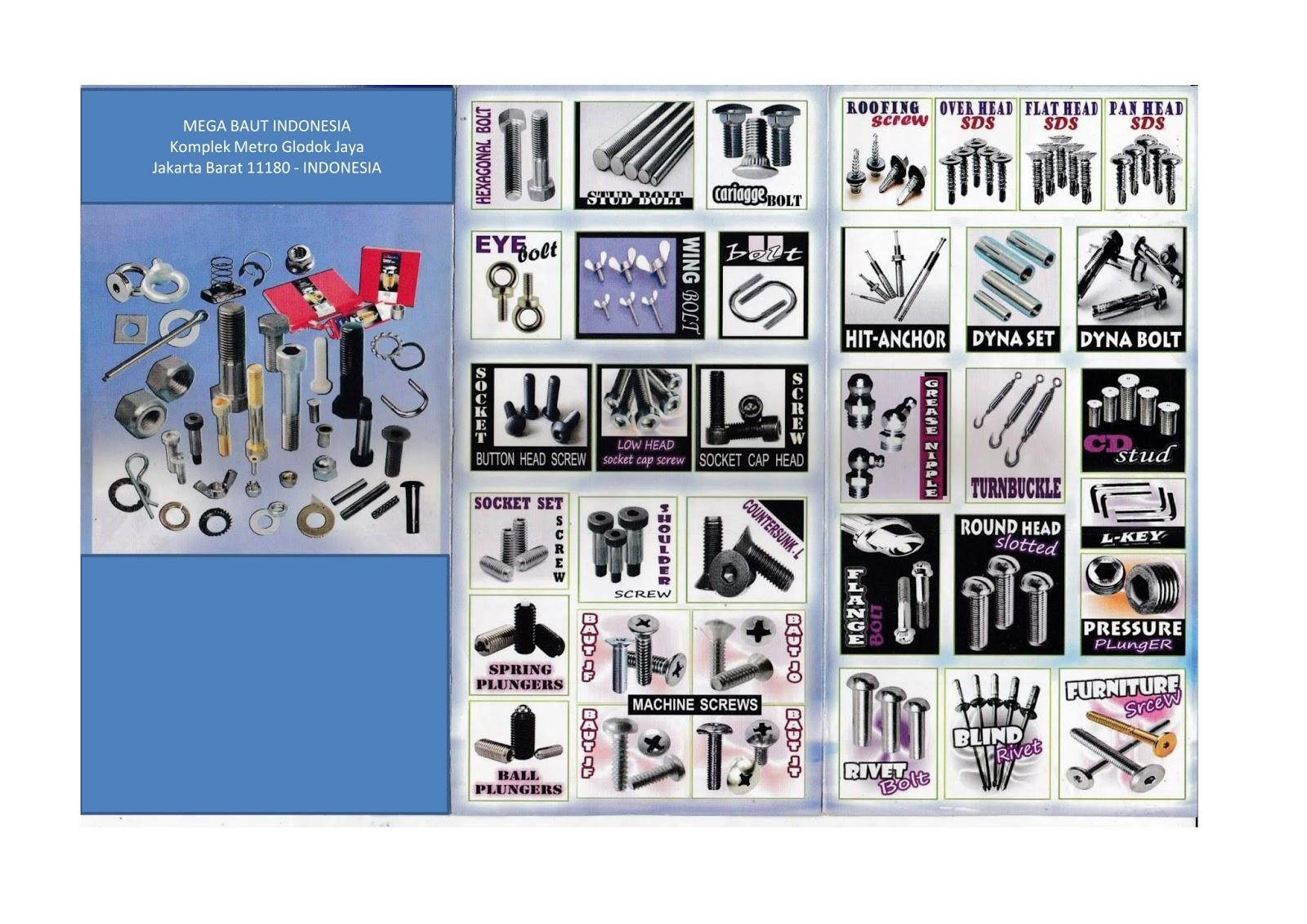 Daftar Harga Baut Dan Mur Produsen Distributor Brosur Gambar Foto Sekerup