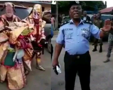 Kosele Ri!!  See How Lagos State Commissioner Of Police Arrest Masquerades for Allegedly Robbing Residents in Agege ( watch video)