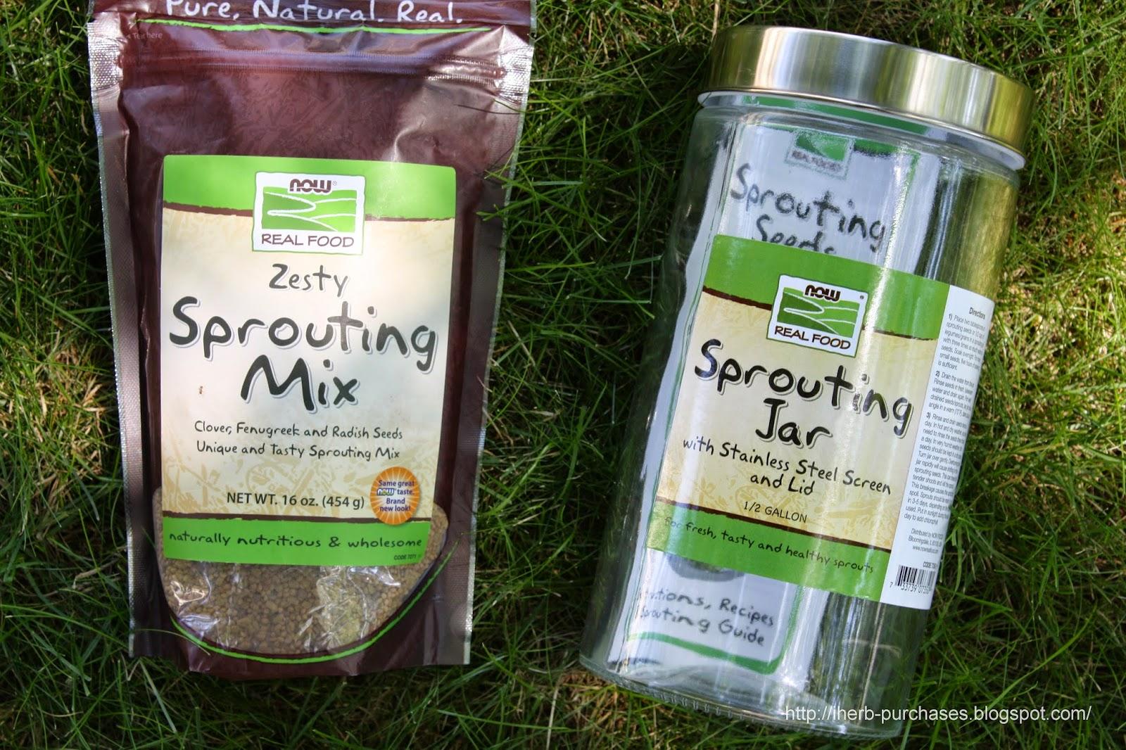 смесь для проращивания, полезное, ростки, отзыв, iherb