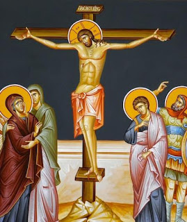 Orthodox icon of the Crucifixion of Christ