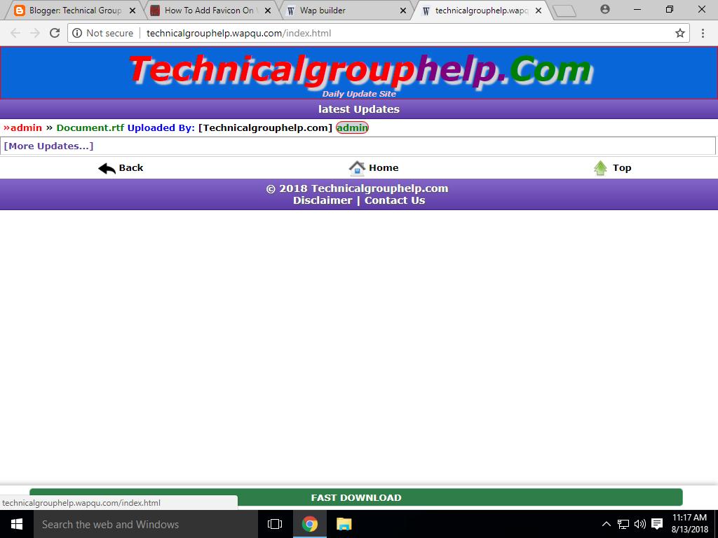 How To Add Favicon On Wapkiz - Wapkuz   Apni Website Me Favicon Kese