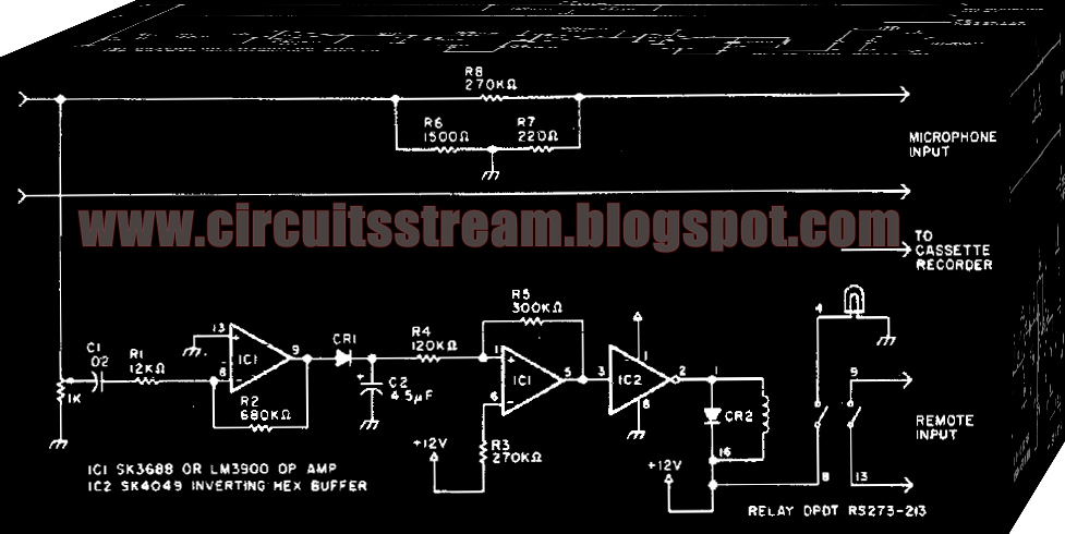 Digital Automatic Tape Recording Circuit Diagram