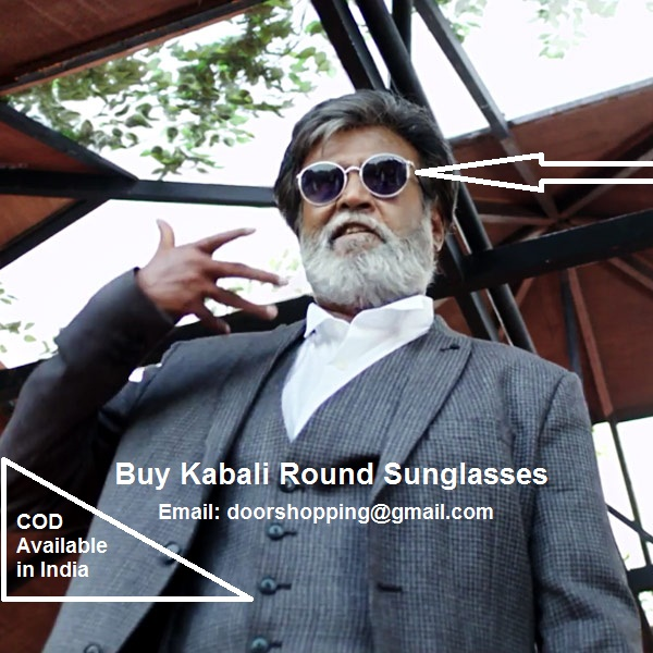 0bccb5e18d4 Buy Kabali Rajnikanth Rajni Round Sunglasses in India COD Available Email   doorshopping gmail.com to buy