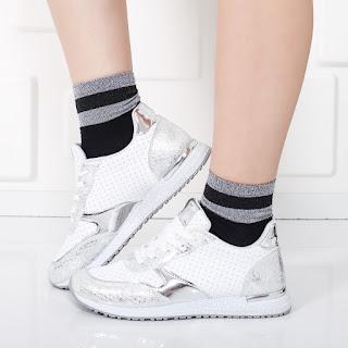 Pantofi sport Icadi albi