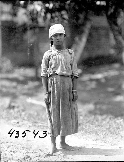 Young girl. 1922. Guyana, South America