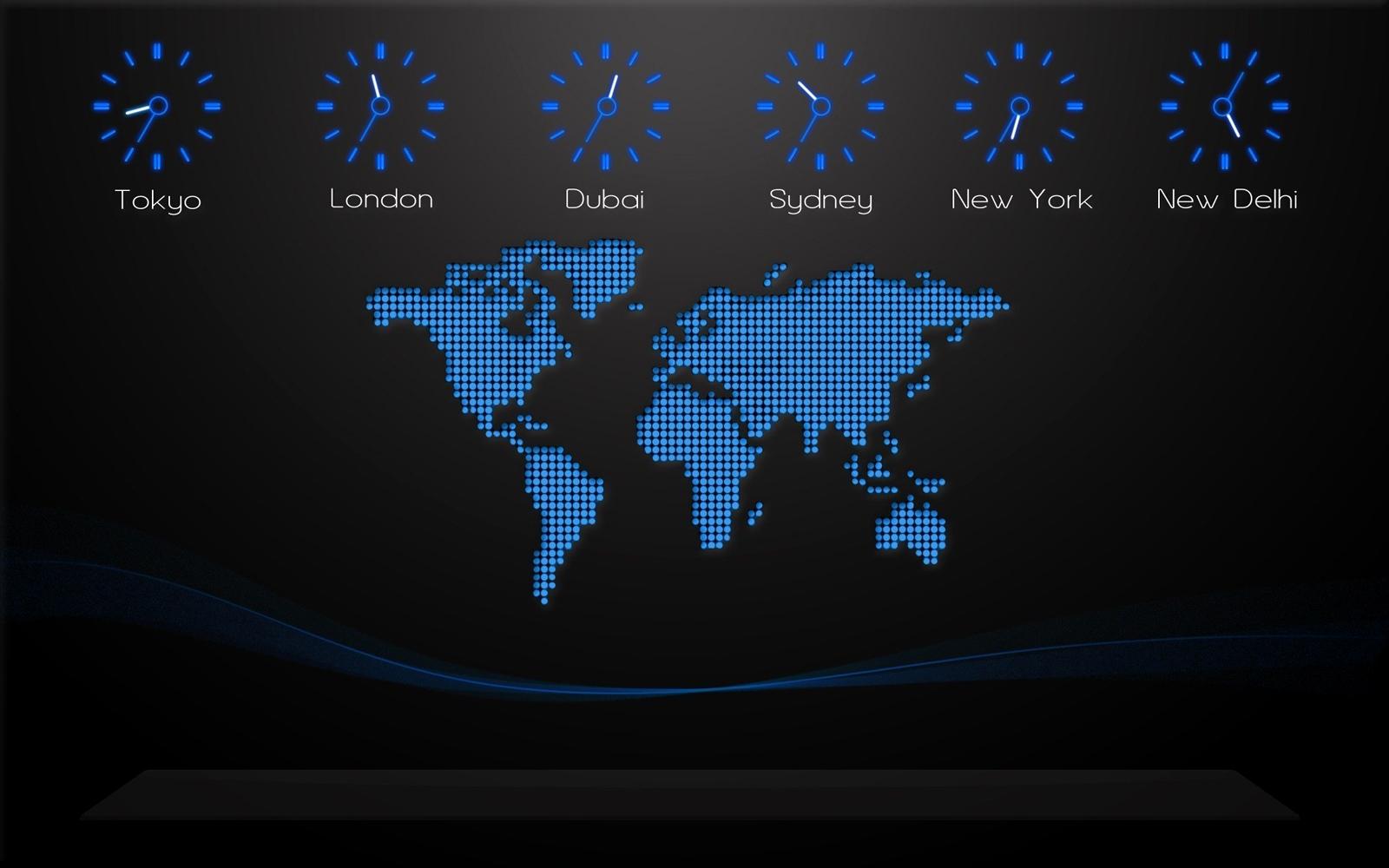Wporld Clocks Desktop Wallpaper