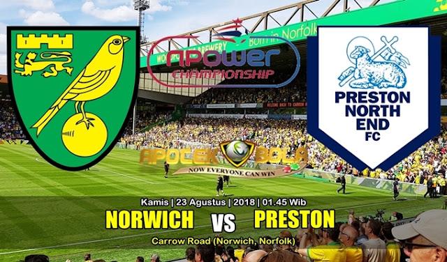 Prediksi Norwich City Vs Preston North End 23 Agustus 2018