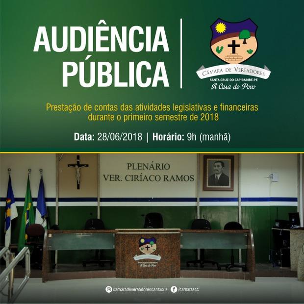 Câmara de Vereadores de Santa Cruz do Capibaribe realiza Prestação de Contas nesta quinta-feira (28)