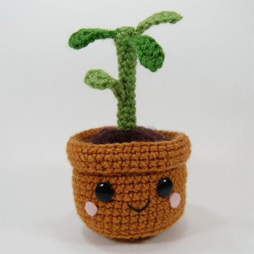 Pull and Grow Amigurumi Plant - Free Pattern