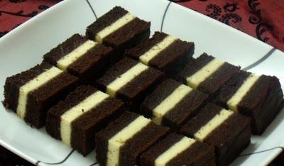 Resepi Kek Coklat Lapis Cheese Kukus