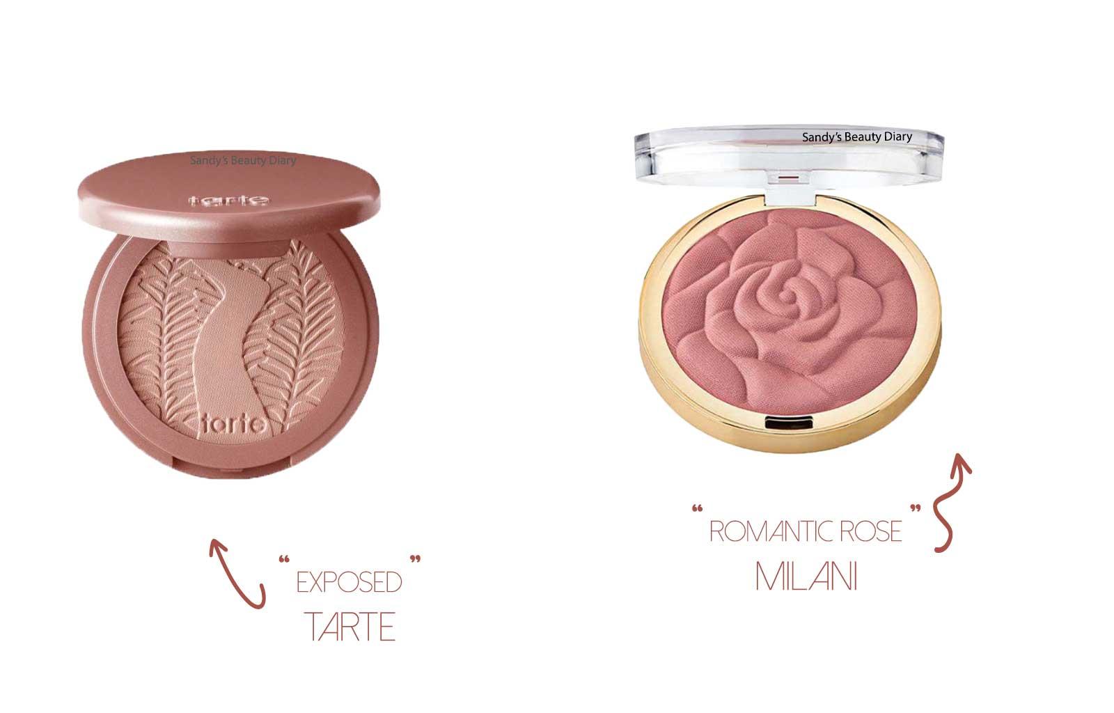 Dupes maquillage tarte blushs amazonian clay