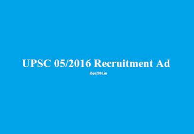 UPSC 104 Recruitment