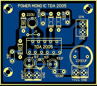 Cara Membuat Amplifire Mini 12v Mono TDA 2005