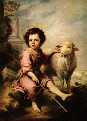 Postal: El buen pastor. Museo del Prado. Editorial Escudo de Oro