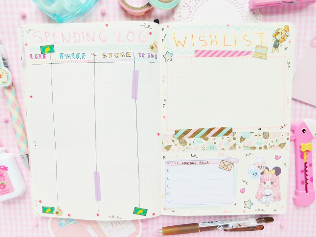 Kawaii Bullet Journal Setup