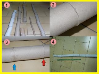 Bambú hecho con tubos de cartón
