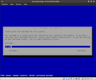 Masukkan Hostname server