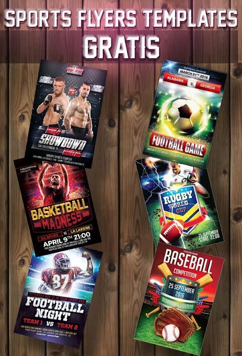 Colección de plantillas para afiches, volantes o banners deportivos