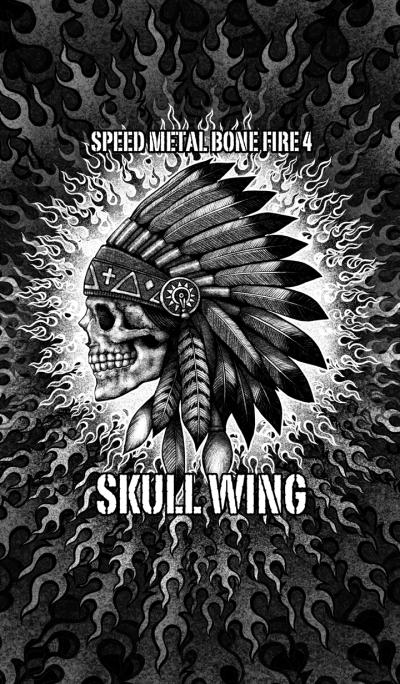 Speed Metal Bone Fire 4 Skull wing