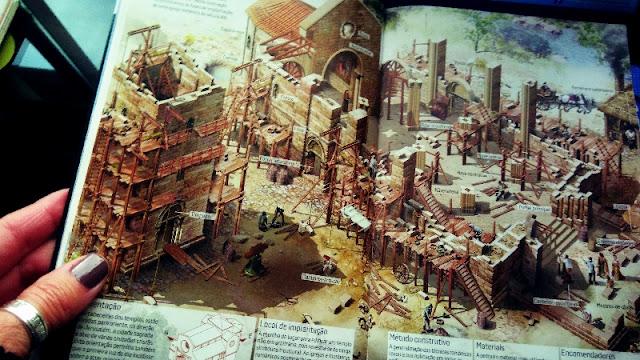 páfina do guia que ilustra a construção de um monumento romÂnico