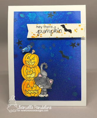 Newtons Boo-tiful Night   Newtons Nook Designs   Card Created by Danielle Pandeline
