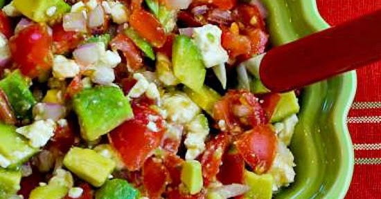 ... ®: Lisa's Cross-Cultural Salsa with Tomato, Avocado, Lime, and Feta