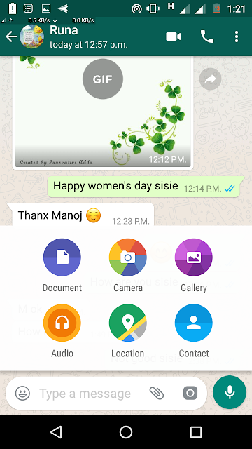 WhatsApp Message Board with New Look
