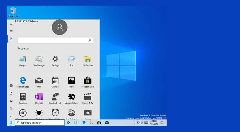 Microsoft accidentally released an internal Windows 10 build with a new Start Menu design