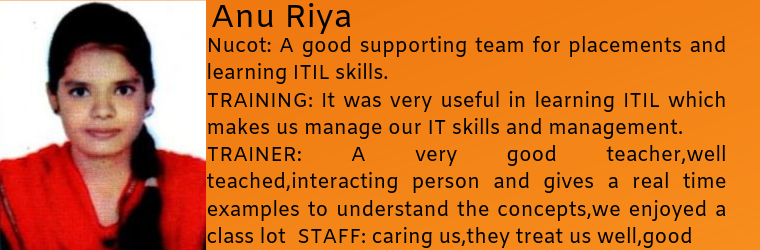 Anu Riya- Testimonial / Review About Nucot